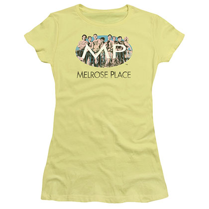 Melrose Place Meet At The Place Yellow Juniors T-Shirt