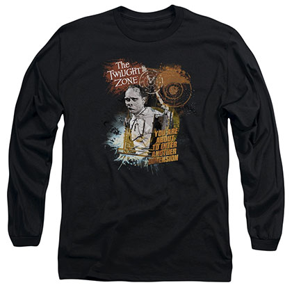 Twilight Zone Enter At Own Risk Black Long Sleeve T-Shirt