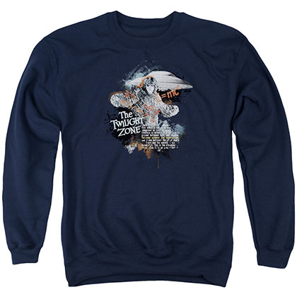 Twilight Zone Science&Amp;Superstition Blue Crew Neck Sweatshirt