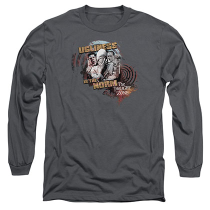 Twilight Zone The Norm Gray Long Sleeve T-Shirt