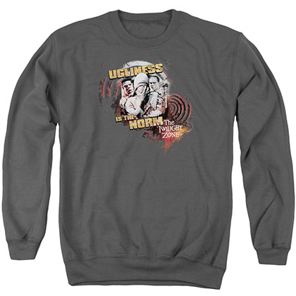 Twilight Zone The Norm Gray Crew Neck Sweatshirt