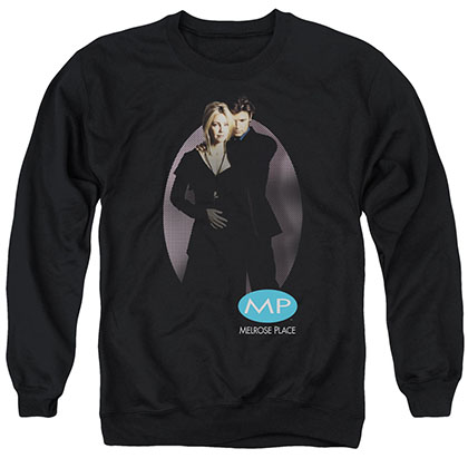 Melrose Place Kiss Black Crew Neck Sweatshirt