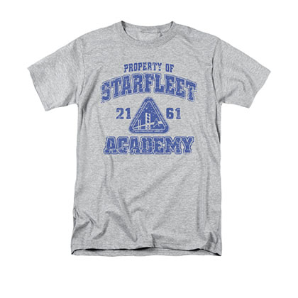 Star Trek Starfleet Academy Old School Gray T-Shirt