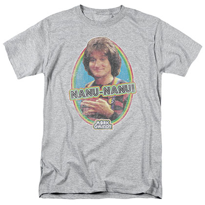 Mork & Mindy Nanu Nanu Gray T-Shirt