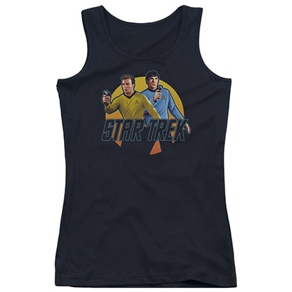 Star Trek Phasers Ready Black Juniors Tank Top