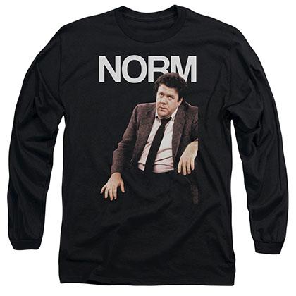 Cheers Norm Black Long Sleeve T-Shirt