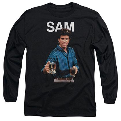 Cheers Sam Black Long Sleeve T-Shirt