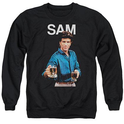Cheers Sam Black Crew Neck Sweatshirt