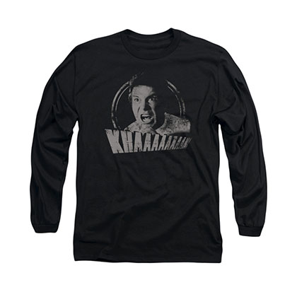 Star Trek Khan Distressed Black Long Sleeve T-Shirt