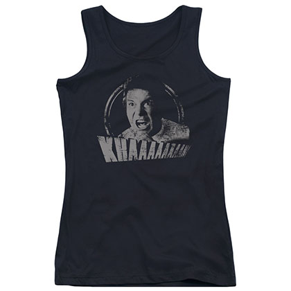 Star Trek Khan Distressed Black Juniors Tank Top