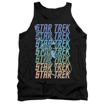 Star Trek Multi Logo Enterprise Black Tank Top