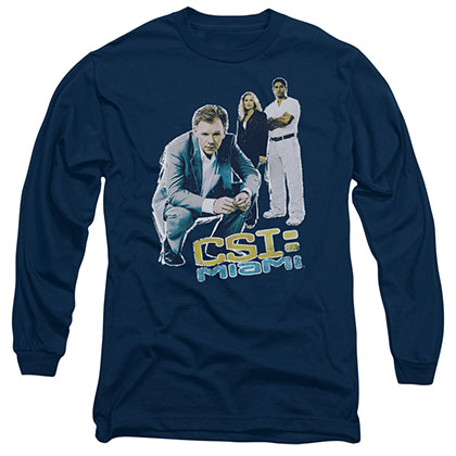CSI:Miami In Perspective Blue Long Sleeve T-Shirt