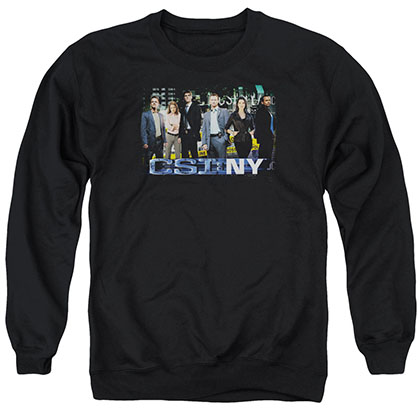 CSI: NY Cast Black Crew Neck Sweatshirt