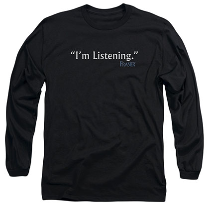 Frasier I'm Listening Black Long Sleeve T-Shirt
