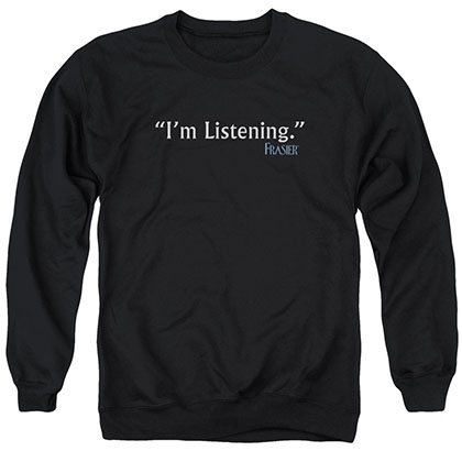 Frasier I'M Listening Black Crew Neck Sweatshirt