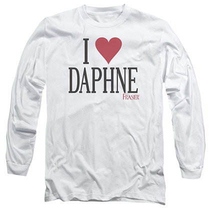 Frasier I Heart Daphne White Long Sleeve T-Shirt