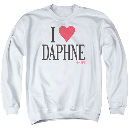 Frasier I Heart Daphne White Crew Neck Sweatshirt