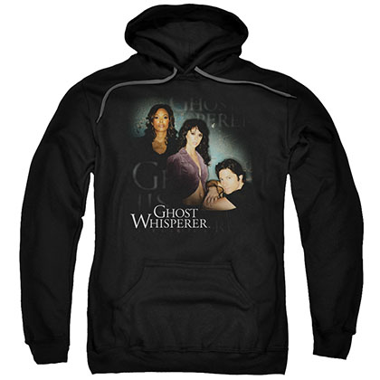 Ghost Whisperer Diagonal Cast Black Pullover Hoodie