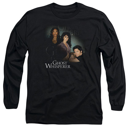 Ghost Whisperer Diagonal Cast Black Long Sleeve T-Shirt
