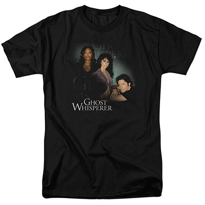 Ghost Whisperer Diagonal Cast Black T-Shirt
