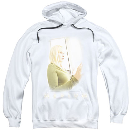 Medium White Light White Pullover Hoodie