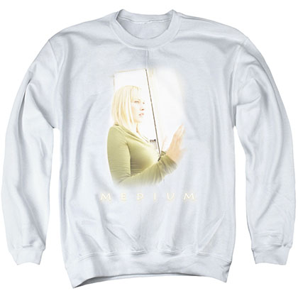 Medium White Light White Crew Neck Sweatshirt
