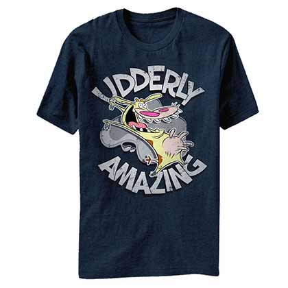 Cow and Chicken Udderly Amazing Blue T-Shirt