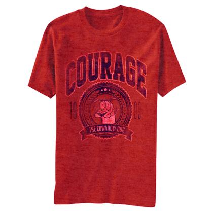 Courage The Cowardly Dog Vintage Logo Tshirt