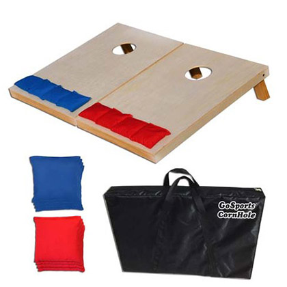 Cornhole Game Solid Wood 3x2' Tailgate Bean Bag Toss