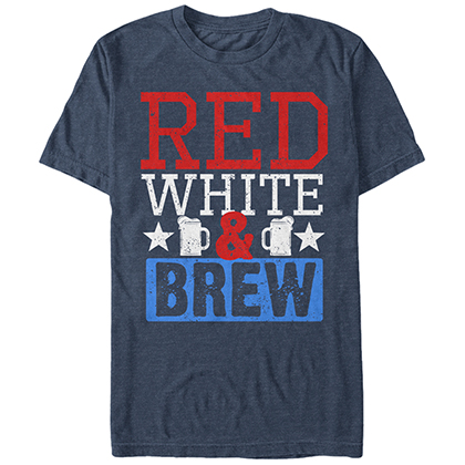 Patriotic USA American Red White & Brew Blue T-Shirt