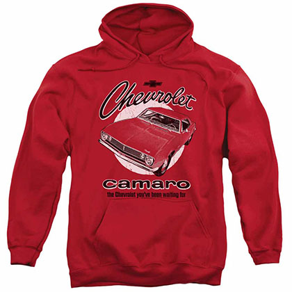 Chevy Retro Camaro Red Pullover Hoodie