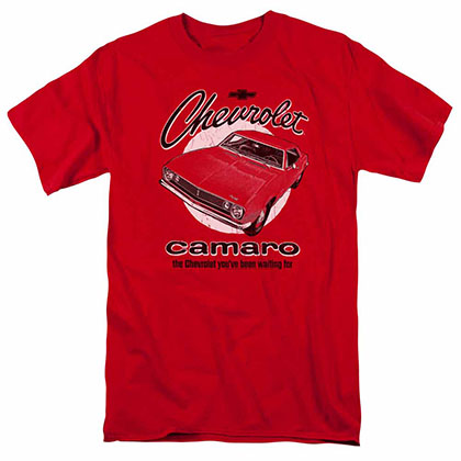 Chevy Retro Camaro Red T-Shirt