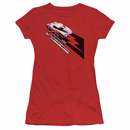 Chevy Split Window Sting Ray Red Juniors T-Shirt