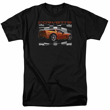 Chevy Orange Z06 Vette Black T-Shirt