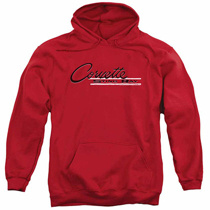 Chevy Retro Stingray Red Pullover Hoodie