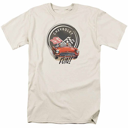 Chevy Vette Fun Beige T-Shirt