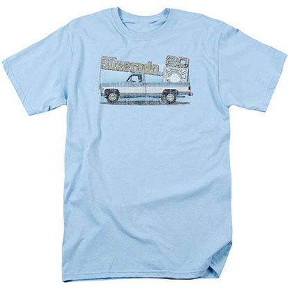 Chevy Old Silverado Sketch Blue T-Shirt