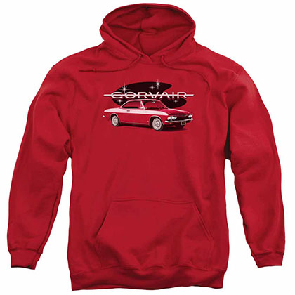 Chevy 65 Corvair Mona Spyda Coupe Red Pullover Hoodie