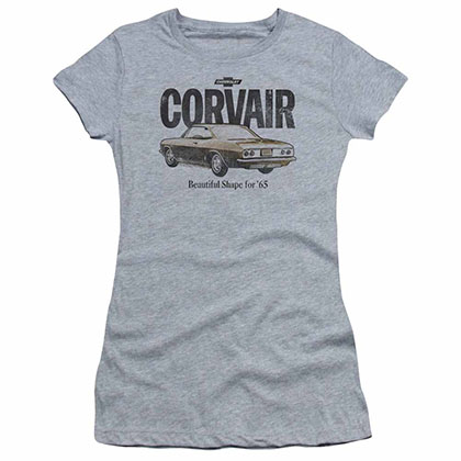 Chevy Retro Corvair Gray Juniors T-Shirt