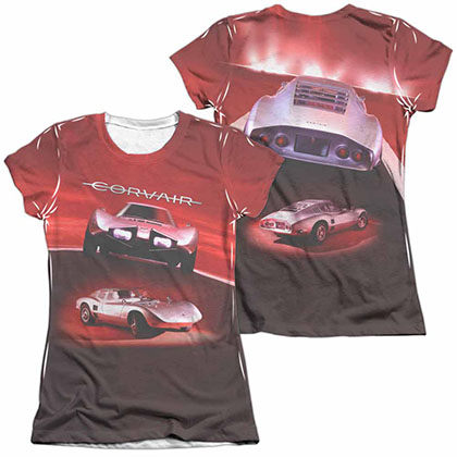 Chevy Silver Bullet White 2-Sided Juniors Sublimation T-Shirt