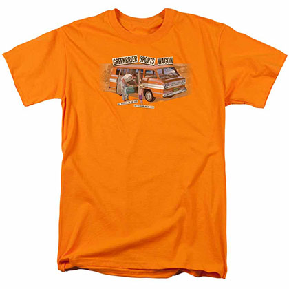 Chevy Greenbrier Corvair Sport Wagon Orange T-Shirt