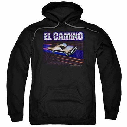 Chevy El Camino 85 Black Pullover Hoodie