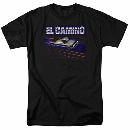 Chevy El Camino 85 Black T-Shirt