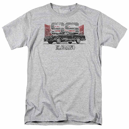 Chevy El Camino Ss Mountains Gray T-Shirt
