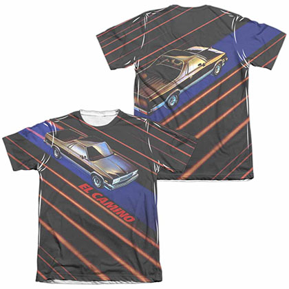 Chevy Laser Camino White 2-Sided Sublimation T-Shirt