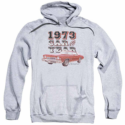 Chevy Car Of The Year Gray Pullover Hoodie