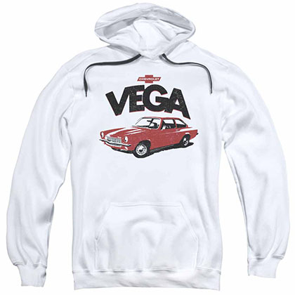 Chevy Rough Vega White Pullover Hoodie