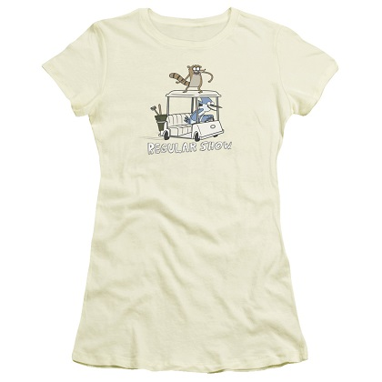 Regular Show Golf Cart Womens Tshirt