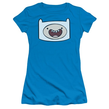 Adventure Time Finns Face Womens Tshirt