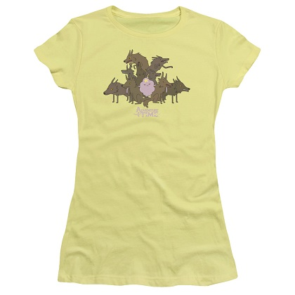 Adventure Time Lumpy and Wolves Womens Tshirt
